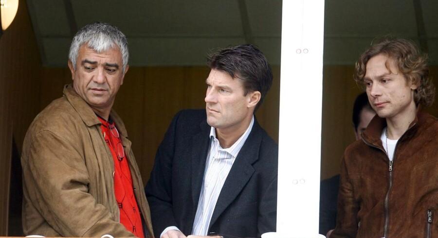 Valeri Karpin (th.) afskedigede Michael Laudrup efter bare syv måneder i spidsen for Spartak Moskva.