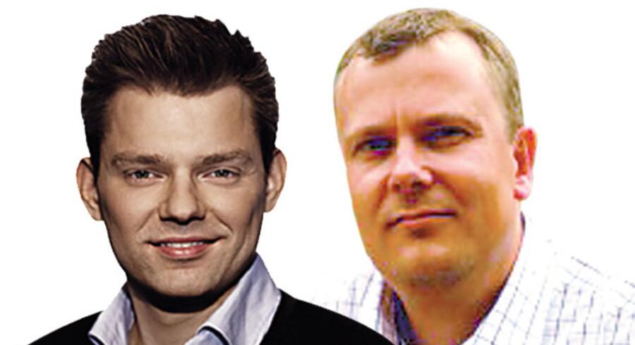 Michael Vindfeldt, Rådmand (S) og medlem af Frederiksberg kommunalbestyrelse, og Lars Berg Dueholm, Gruppeformand for Venstre i Københavns Borgerrepræsentation.
