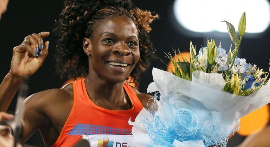 Amantle Montsho, der blev verdensmester i 2011, er taget for doping ved et løb i Glasgow.