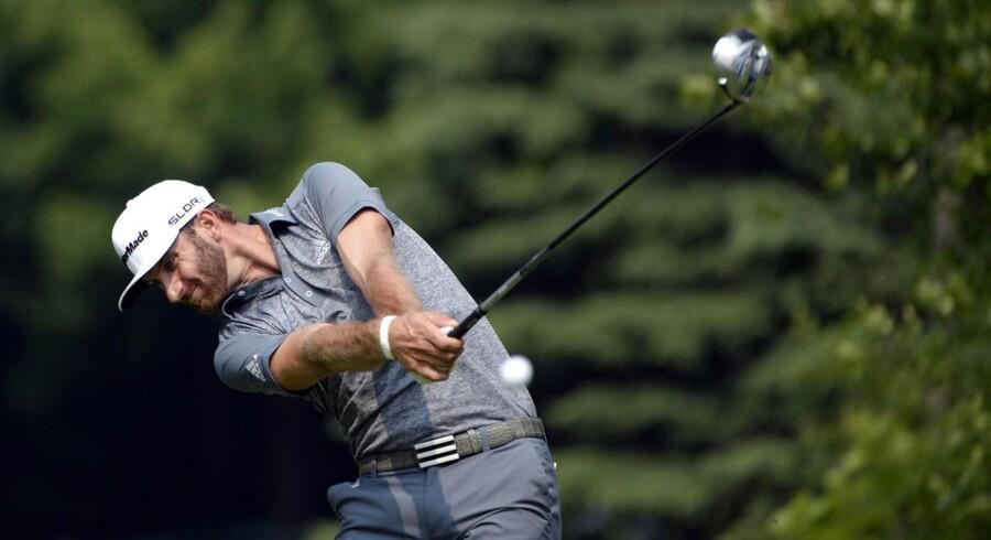 Arkivfoto. Golfspilleren Dustin Johnson.