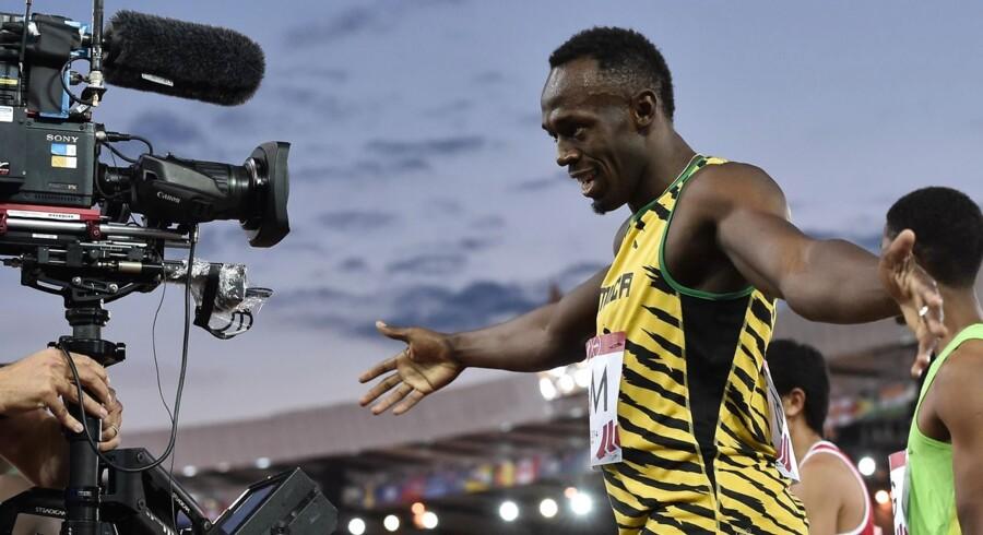 Usain Bolt fik comeback efter en længere skadespause.