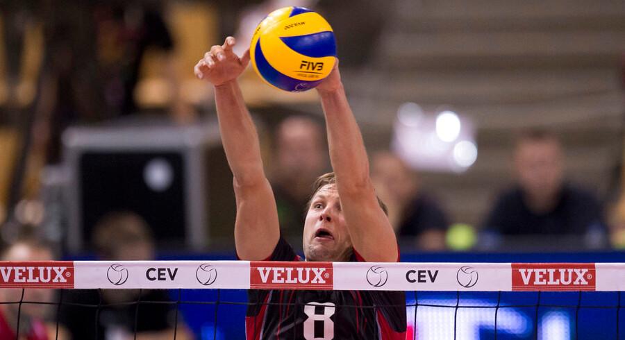 Axel Jacobsen under sidste års EM Volleyball i Danmark