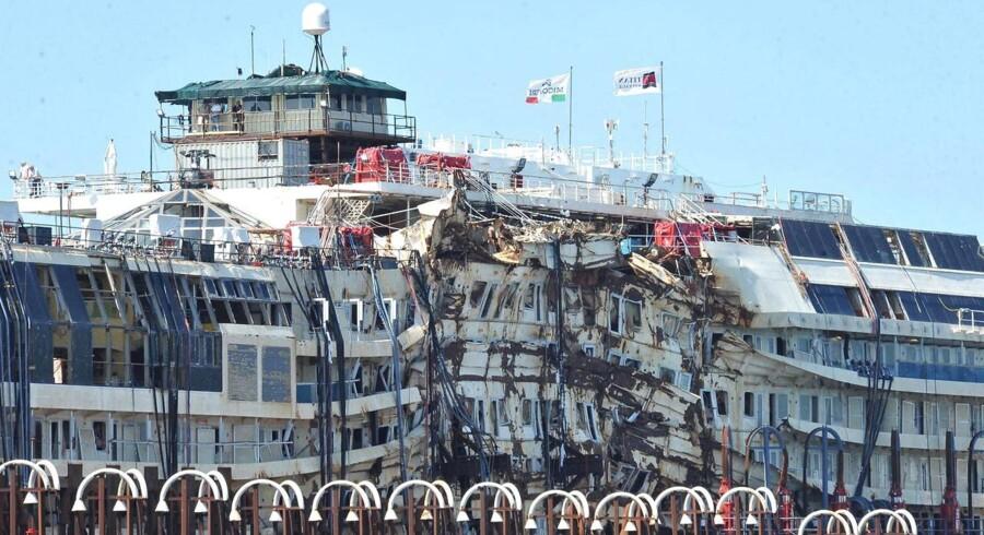 Costa Concordia er nu klar til at blive skrottet.