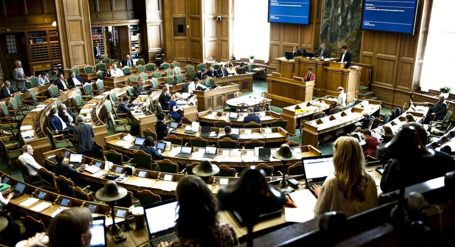 Afslutningsdebatten i Folketinget på Christiansborg begyndte onsdag morgen. Det store tema blev dagpengene. Foto: Torkil Adsersen, Scanpix