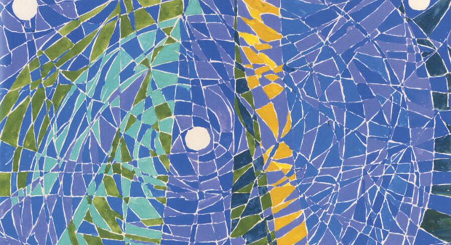 »Lüneburger Heide« fra 1974 – malet samme år som Else Alfelt døde – rummer mange af de elementer, der blev kunstnerens signatur. Månen, bjergene, naturfornemmelsen – men også rytmen, mønstret og de meditative kvaliteter. Billedet antyder et opbrud i Else Alfelts måde at komponere på, og man spekulerer på, hvor det kunne have ført hende hen, hvis hun havde fået mere tid.