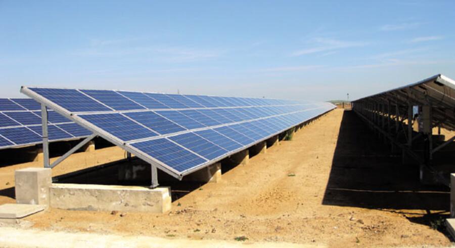 Obton A/Ss solenergi-anlæg i Spanien. PR-foto