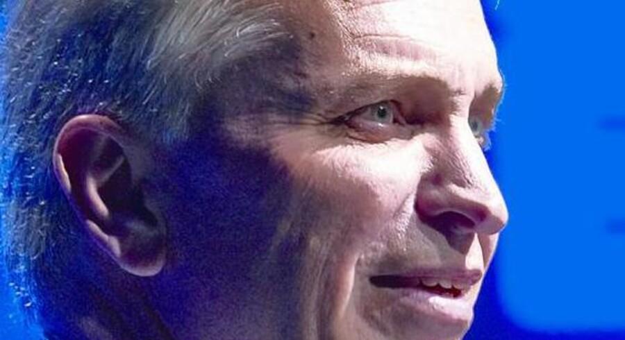 Dansk Erhverv fik i går ny formand. Det blev 2. næstformanden, Michael Kjær, der trådte et skridt frem i rampelyset. Her på talerstolen fra årsmødet 2010 i går.