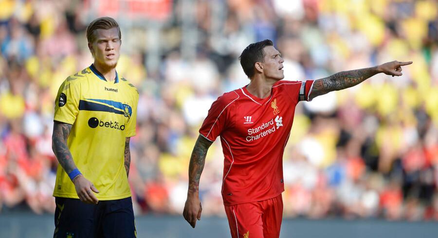 Daniel Agger var tilbage på vestegnen i Liverpools træningskamp mod Brøndby.