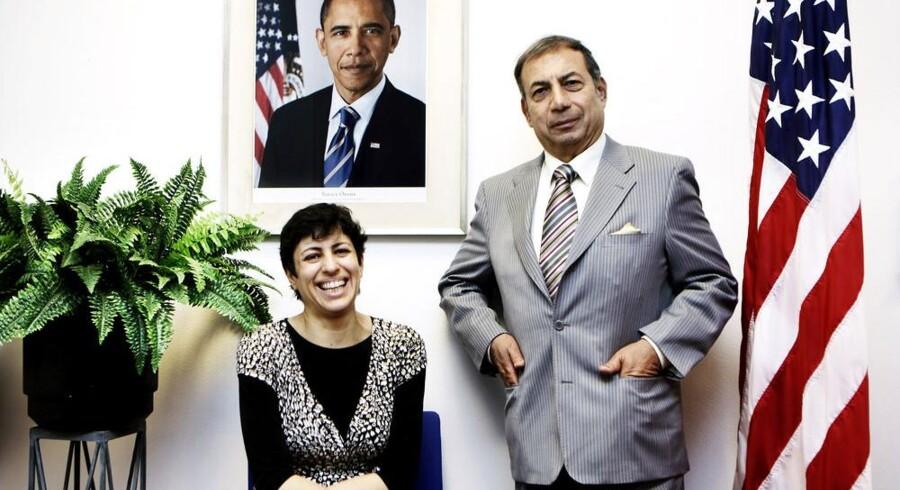 Rawnak Natour Svendsen og Enan Galaly repræsenterede Danmark på Obamas iværksættermøde i Washington. Foto: Christian Als