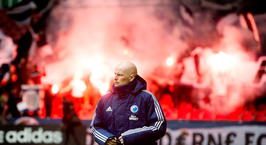 Se Ritzau: Solbakken: AaB starter næste sæson med et forspring. Ståle Solbakken før kampen mellem FCK-AGF