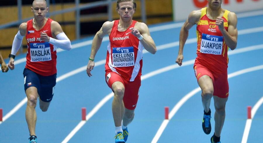 400 meter-løberen Nick Ekelund-Arenander, i midten, ligner det stærkeste danske kort i EM i næste måned i Zürich.