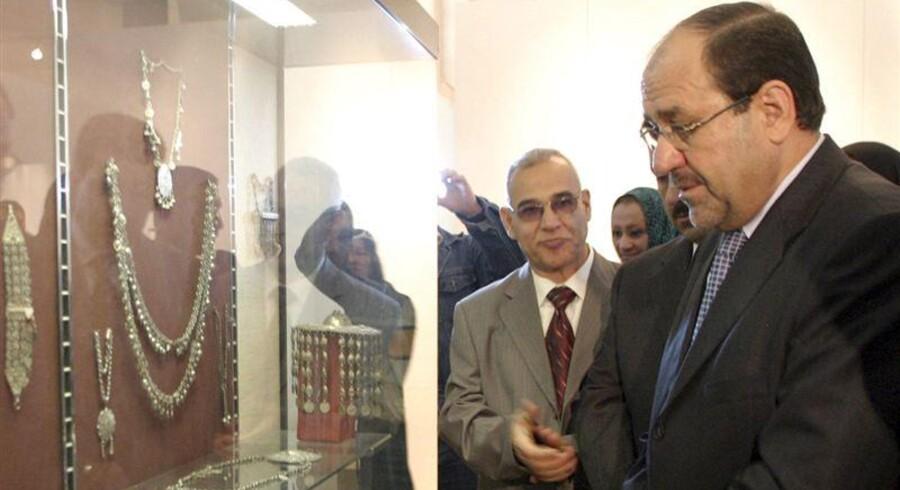 638 forsvunde artifakter er dukket på i et lagerrum hos den irakiske premierminister.