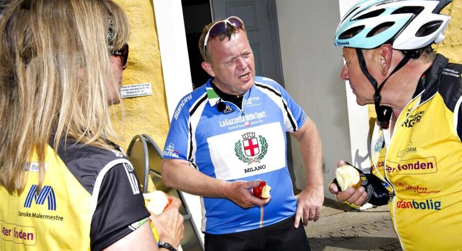 Lars Løkke med Team Rynkeby (arkivfoto).