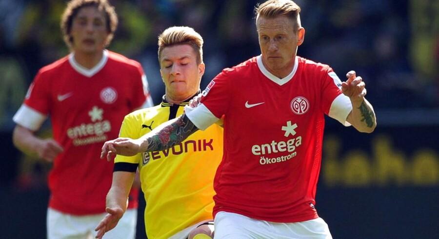 Niki Zimling i aktion for Mainz i sidste sæson.