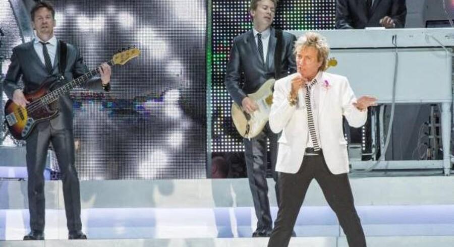 Rod Stewart gav lørdag aften koncert på Musikhusets Amfiscene. Foto: Axel Schütt.