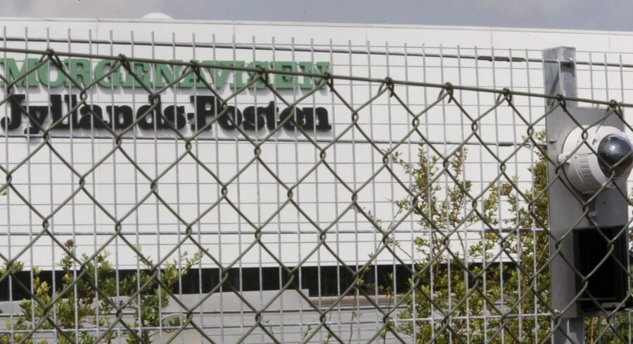 Morgenavisen Jyllands-Posten i Viby var angiveligt målet for den anholdte formodede terrorist i København.
