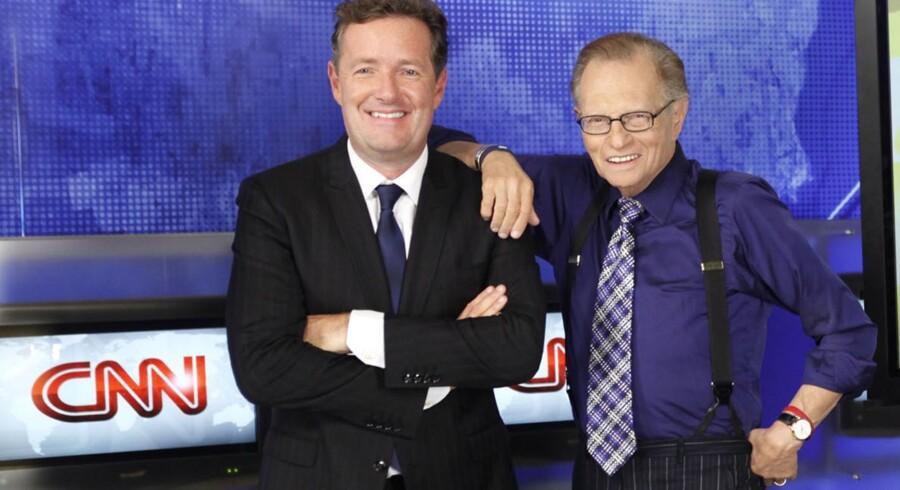 Briten Piers Morgan (tv) afløser talkshow-veteranen Larry King på CNN.