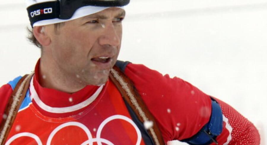 Skiskytten Ole Einar Bjørndalen var Norges største håb som medaljesluger. Sådan gik det ikke, ja langt fra. Foto: Eric Feferberg