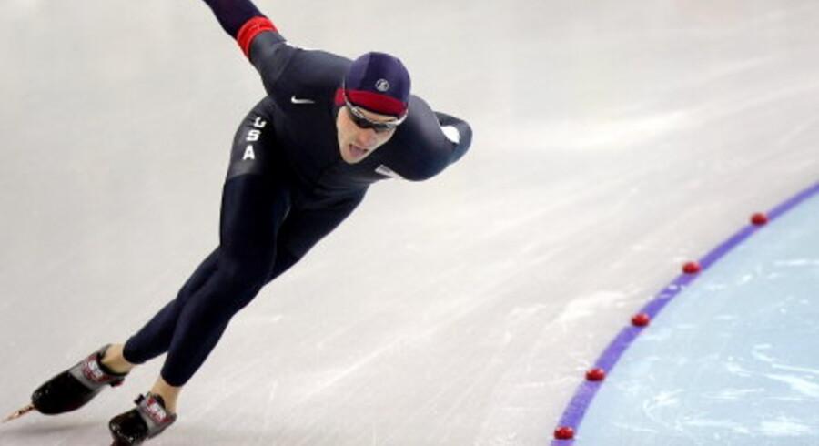Amerikaneren Chad Hedrick har ikke vundet de guldmedaljer, som han regnede med. Foto: Jerry Lampen/Reuters