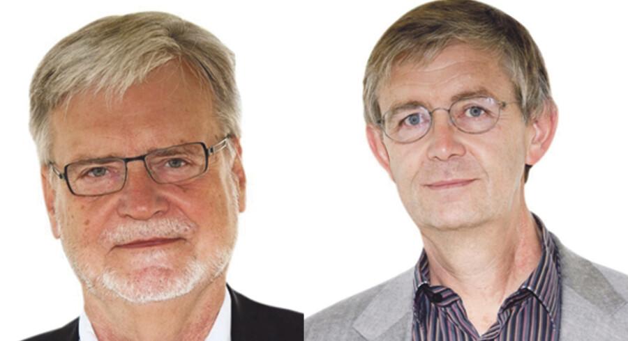 Jens Chr. Djurhuus og Peder Andersen Best.formand og næstformand. Det Frie Forskningsråd