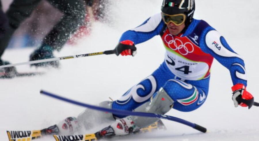 Giorgio Rocca har opbakning fra hele Støvlelandet, når han skal forsøge at hente guld i slalom. Foto: Olivier Morin/AFP