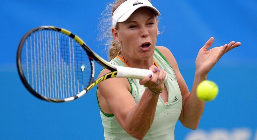 Caroline Wozniackier efter sejr over amerikaneren Sloane Stephens klar til kvartfinalen ved WTA-turneringen i engelske Eastbourne.