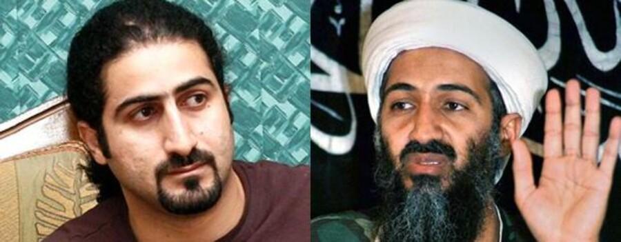 Omar bin Laden til venstre og hans meget berømte far, Osama bin Laden til højre.