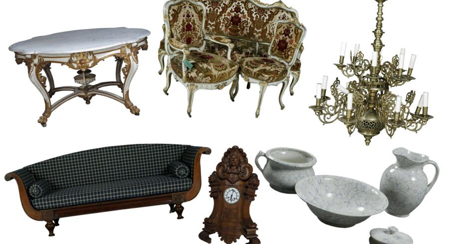 Den 15. juli er der auktion over 600 møbler, der har været anvendt af den kongelige familie på Amalienborg, Fredensborg, Christiansborg, Erimitagen, Sorgenfri og Bernstorff Slot. Blandt disse møbler har konger og dronninger leet og grædt og prinser og prinsesser leget - og fået knubs på de hårde marmorplader og er blevet trøstet. Auktionen omfatter møbler af alle slags og i forskellige stilarter blandt andet Rokoko og Louis XVI. Møblerne er med få undtagelser fremstillet i sidste halvdel af 1800 tallet blandt andet af kongelig hofsnedkermester C.B. Hansen. Det er mere end 60 år siden, der sidst blev holdt auktion over tilsvarende effekter - så det er en unik - og måske sidste mulighed for at erhverve møbler, der har tilhørt den kongelige familie og staten i de næste 100 år - hvis nogensinde igen. De kan nu blive dine! Klik videre og se et lille udvalg.