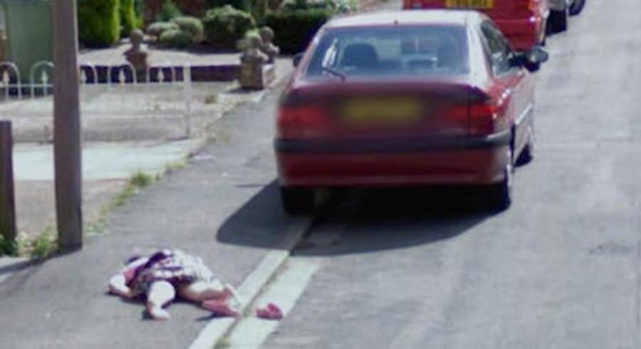 Det foruroligende billede fra Google Street View viste sig bare at dække over en 9-årig pige, der lavede sjov.