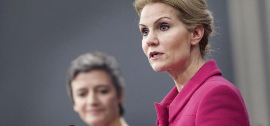 Statsminister Helle Thorning-Smitdh (S) og Økonomi og Indenrigsminster Margrethe Vestager (R)