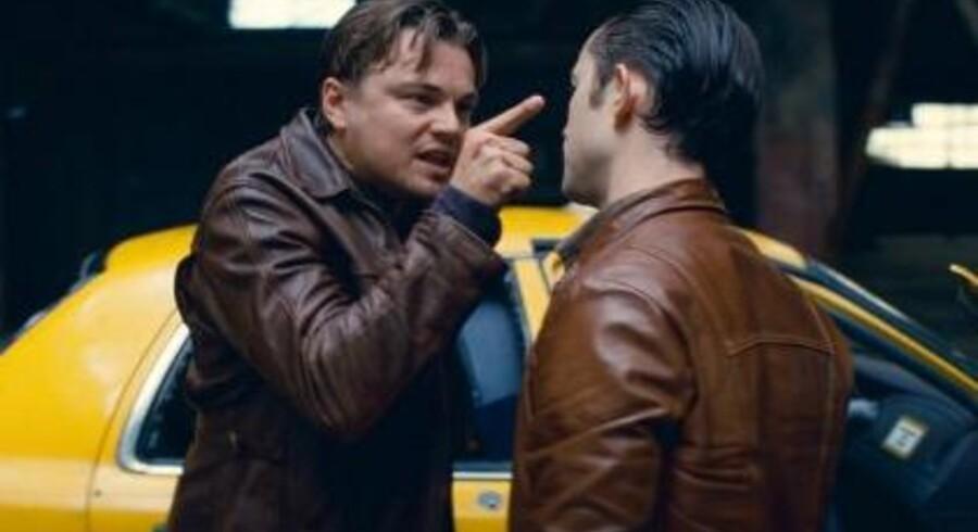 """Stillbilleder fra filmen """"Inception"""", med Leonardo DiCaprio i hovedrollen."""