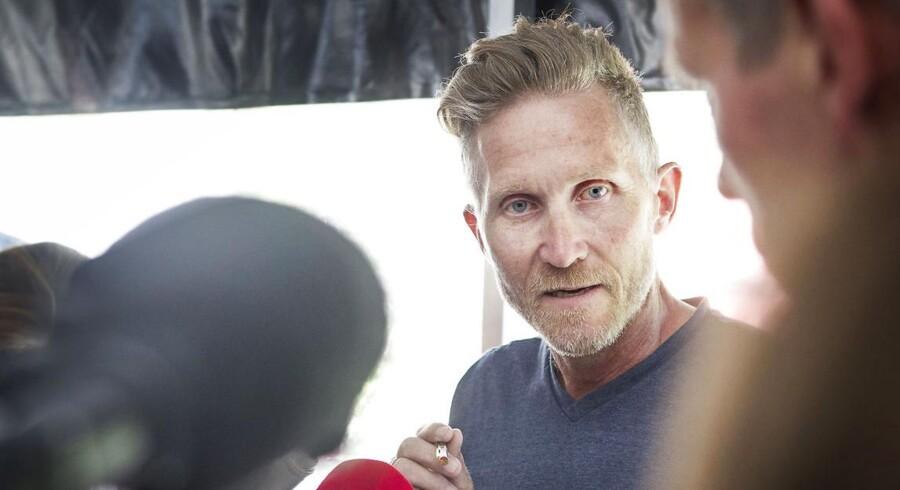 Brian Holm sigtet for sexmisbrug af mindreårig pige, indrømmede han på pressemøde på Fr.berg tirsdag 27. maj. (Foto: Jonas Skovbjerg Fogh/Scanpix 2014)