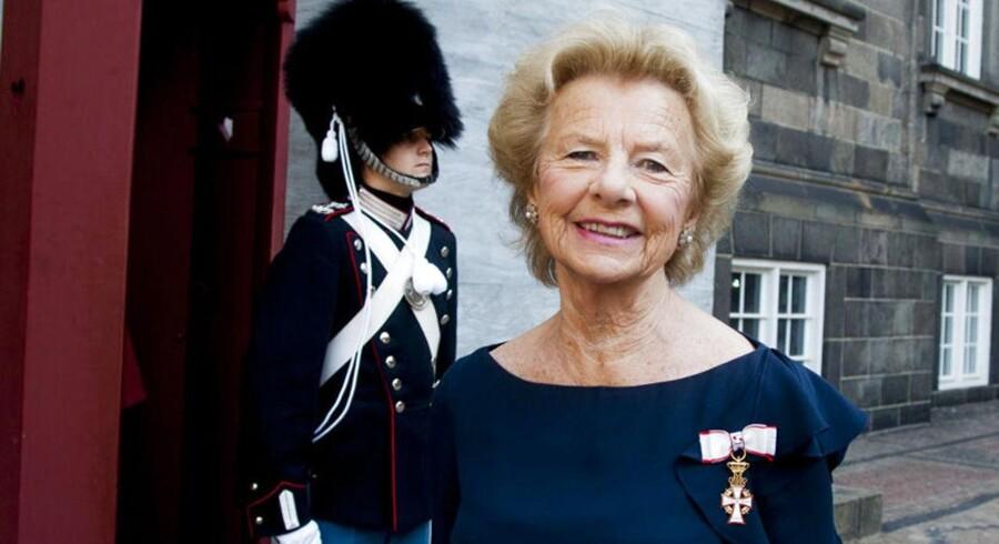 Sussanne Heering takkede dronningen for ridderkorset af første grad. Hun er meget aktiv med socialt arbejde og er blandt andet præsident for Osteoporoseforeningen.