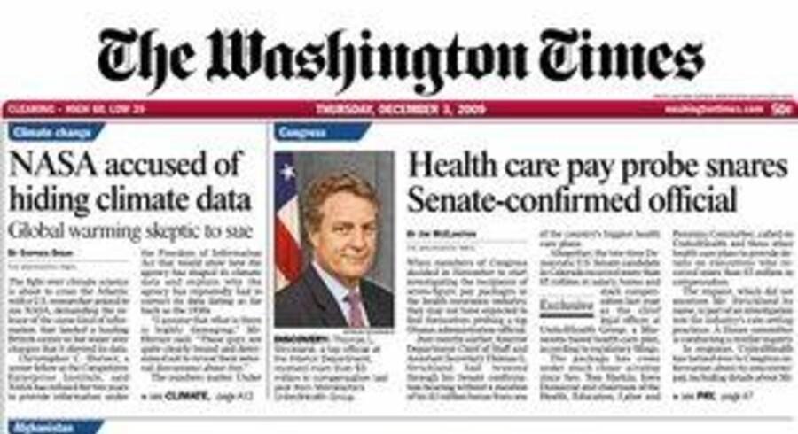 Amerikanske The Washington Times fyrer 370 medarbejdere som følge af en stor omlægning af avisen. Foto: Washington Times