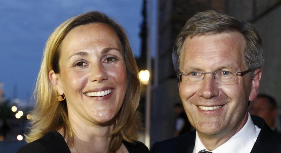 Christian Wulff og hustruen Bettina.