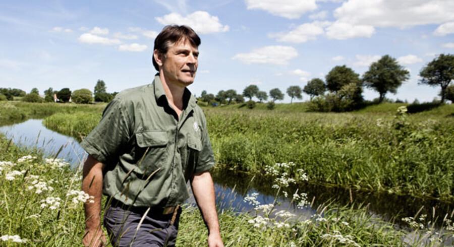 Projektleder Jørgen Sandby Nielsen fra Skov & Naturstyrelsen Storstrøm er manden, der står for naturgenopretningen ved Susåen og blandt andet skal overbevise landmændene om, at de skal deltage i projektet.