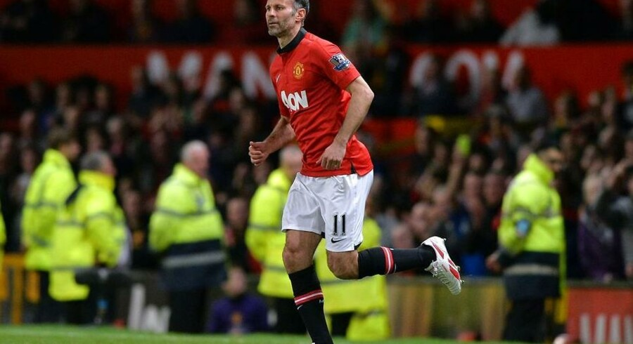 Ryan Giggs i sin sidste officielle kamp for Manchester United