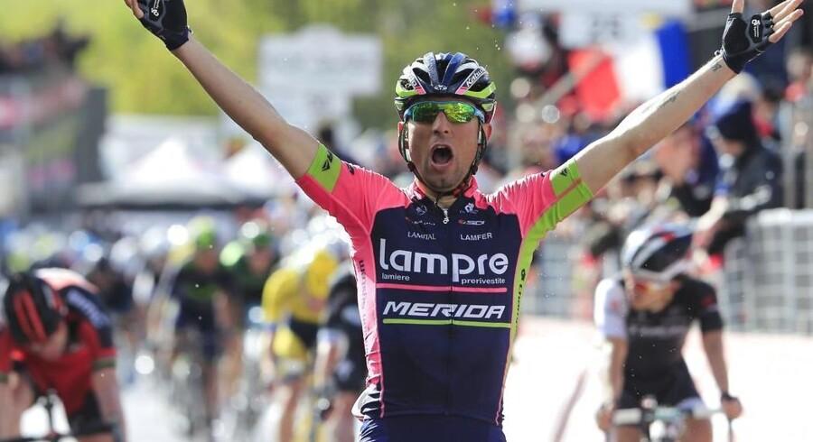 Diego Ulissi vandt en etape i Giro d'Italia allerede i 2011, men har siden markeret sig som specialist i endagesløb. I år blev det så til anden etapesejr, da Ulissi i finalen slog Arredondo og Evans