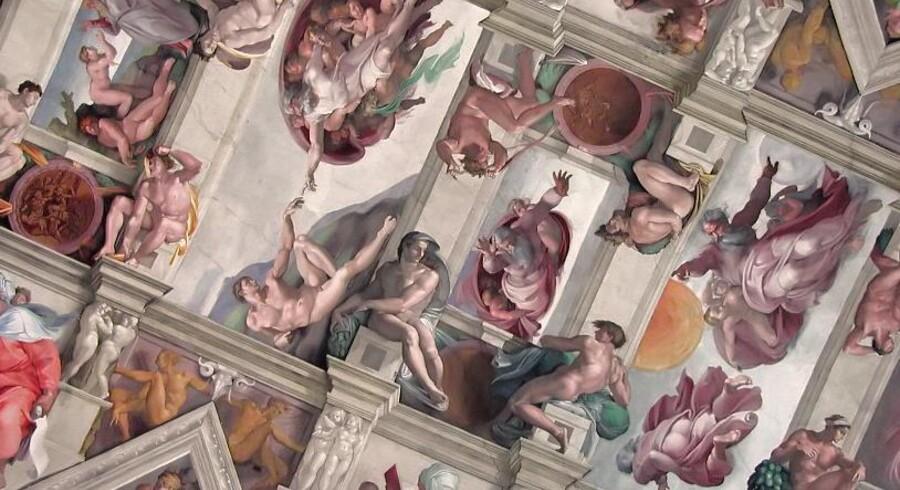 Michelangelos freskomaleri i Det Sixtinske Kapel i Vatikanet.