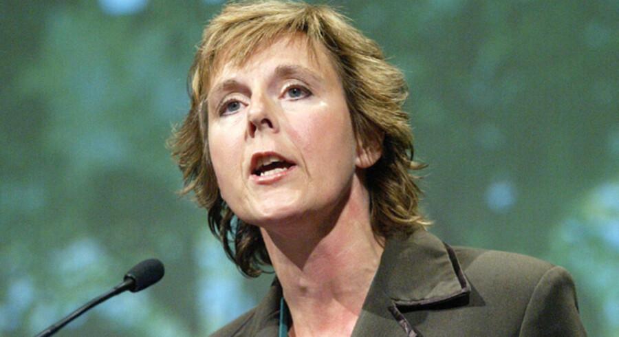 Miljøminister Connie Hedegaard stod som bannerfører for lukning af den politiske gavebod. Foto: Palle Hedemann