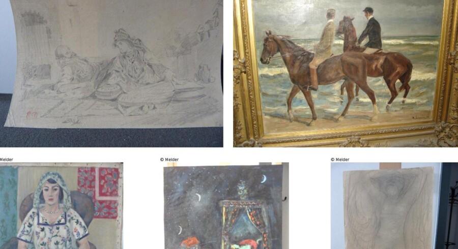 Værker af Eugene Delacroix, Max Liebermann, Henri Matisse, Marc Chagall, Auguste Rodin og mange flere dukkede op i Cornelius Gurlitts lejlighed. FOTO: SCANPIX/AFP