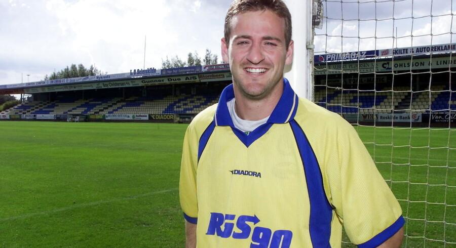 Dansk-spanieren Thomas Christiansen fra tiden som lejesvend i Herfølge Boldklub. Det var i 2000.
