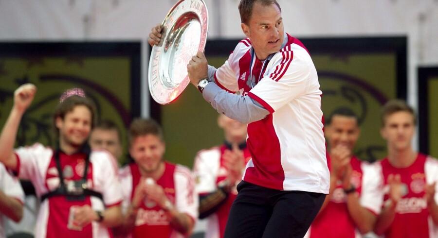 Frank de Boer da han i weekenden kunne fejre sit fjerde hollandske mesterskab i træk med Ajax Amsterdam