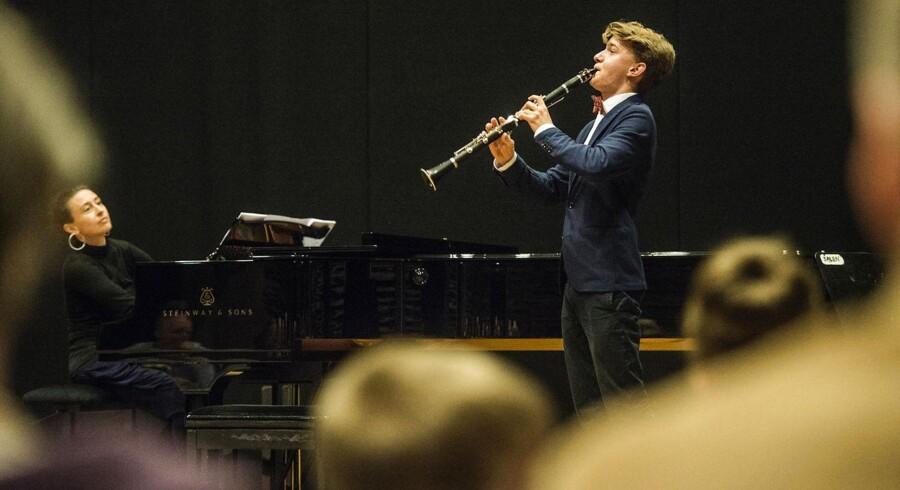 Peter Martin Kappel på 16 år har spillet klarinet i seks et halvt år.