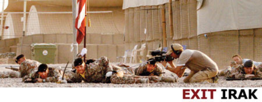 De danske Irak-exit blev forstyrret af bomber. Foto: Major Lasse Nelson