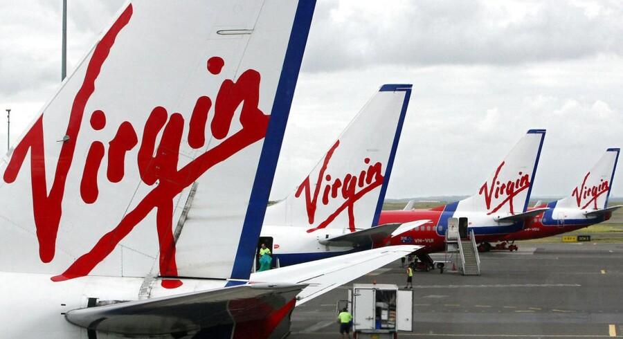 ARKIVFOTO af Virgin Blue-fly i lufthavnen ved Sydney, Australien i 2008.