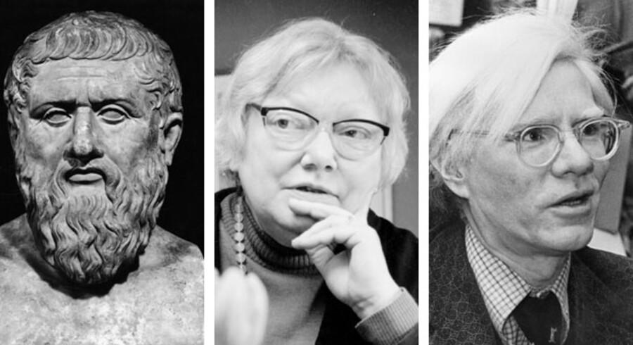 Platon, Inger Christensen og Andy Warhol