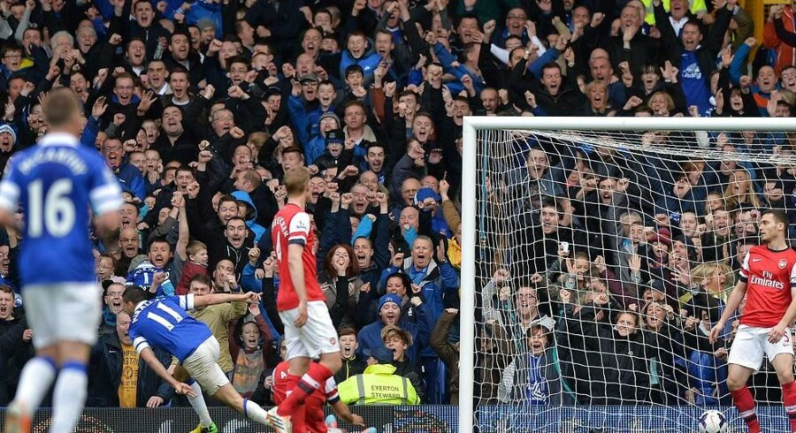 Everton sejrede sikkert over Arsenal på Goodison Park.