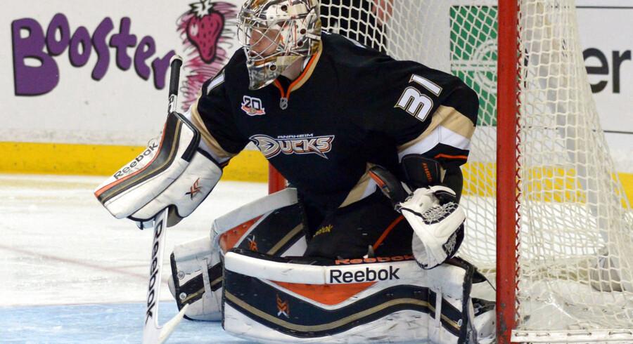 Frederik Andersen har fokus på karrierens første NHL-slutspil og tror på Anaheim Ducks' chancer for at vinde Stanley Cup.