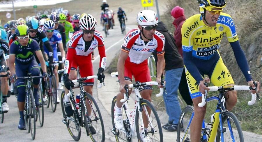 Alberto Contador blev nummer to i Catalonien Rundt, men nu er han nummer et på WorldTour-ranglisten.
